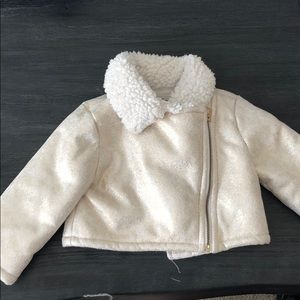 Baby girl glitter gold Cleese coat